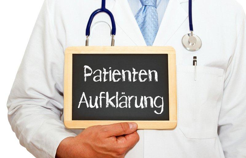 """Patientenaufklärung – """"Nur der Patient entscheidet"""""""