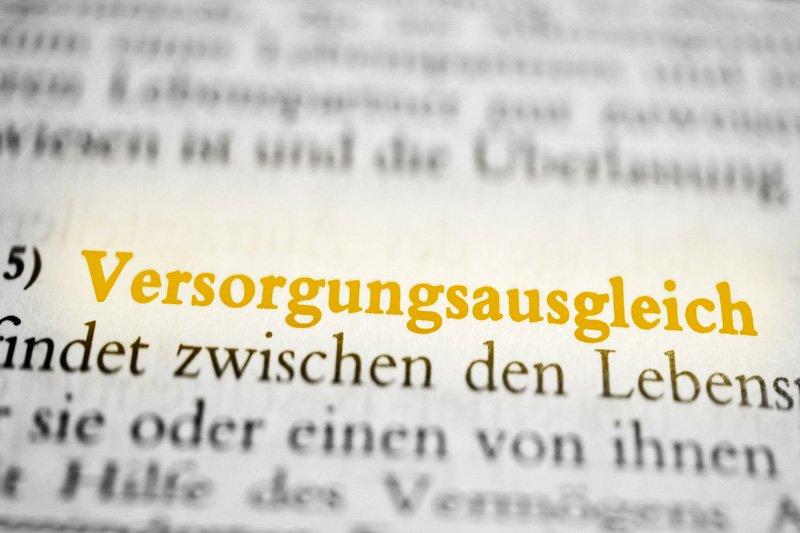 """Versorgungsausgleich – """"Scheiden heisst teilen"""""""