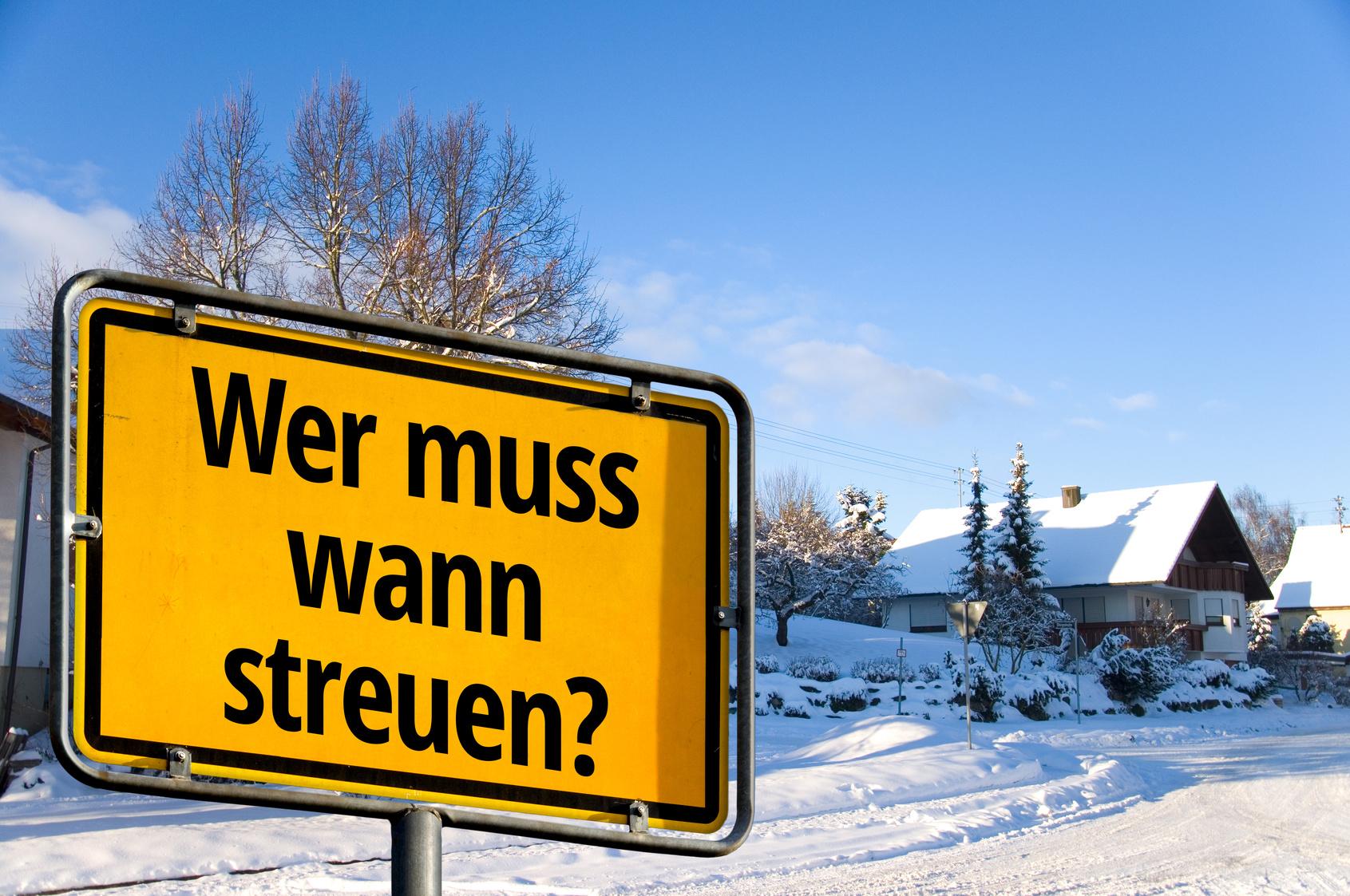 """Räum- und Streupflicht – """"Pflicht zum Winterdienst """""""