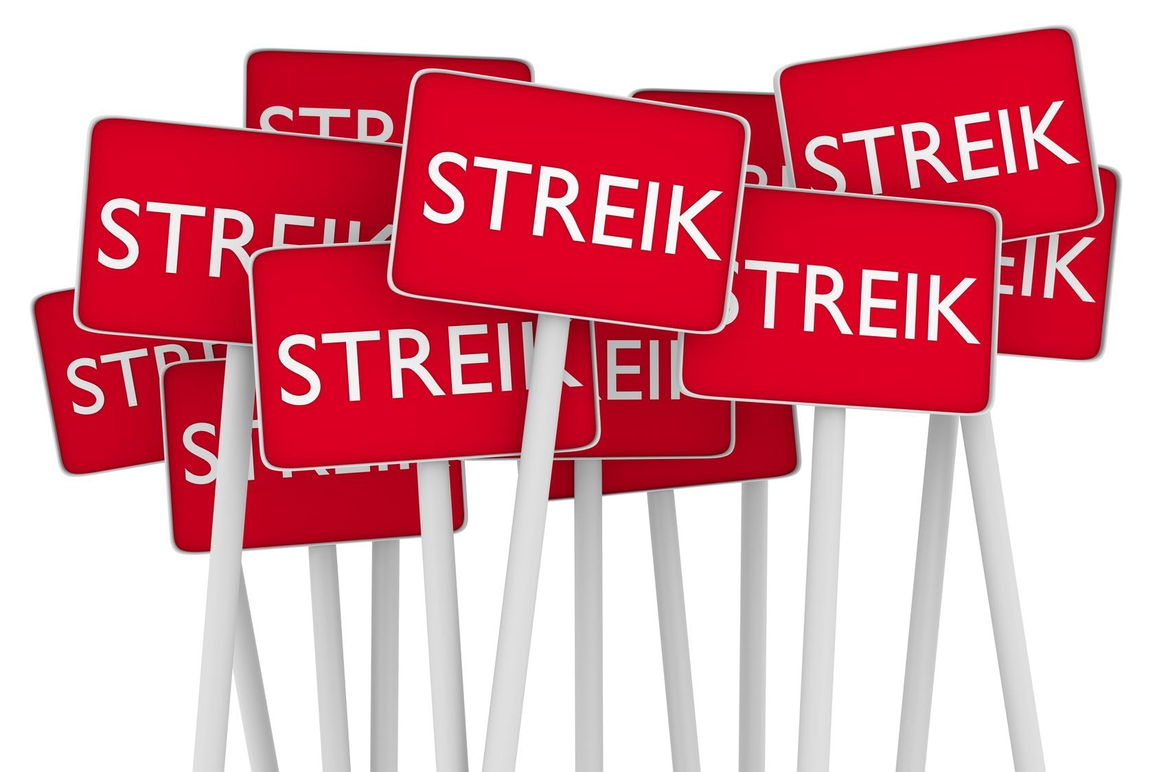 """Streik – """"Streikrecht für Arbeitnehmer"""""""